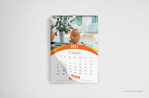 Mockup del calendario da parete, mockup del calendario