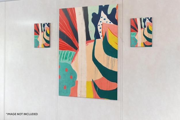 Mockup di telaio in tela da parete