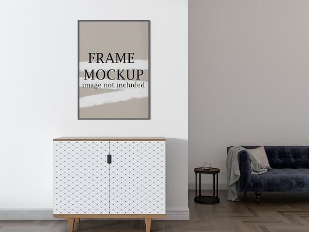 Mockup di cornice a muro per il tuo design