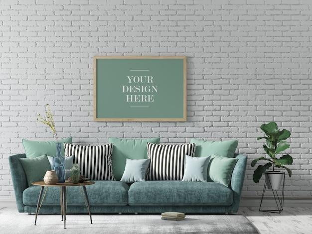 Mockup di telaio a parete