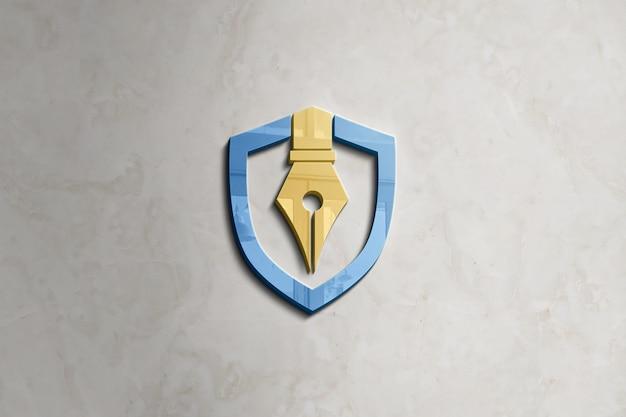 Mockup del logo della parete