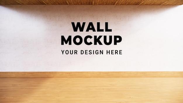 Design mock up a parete in rendering 3d
