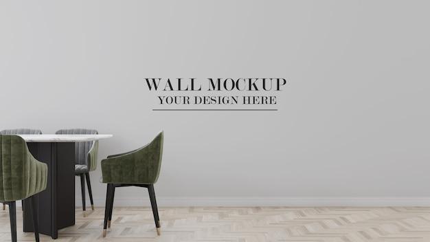 Mockup di parete nella scena di rendering 3d