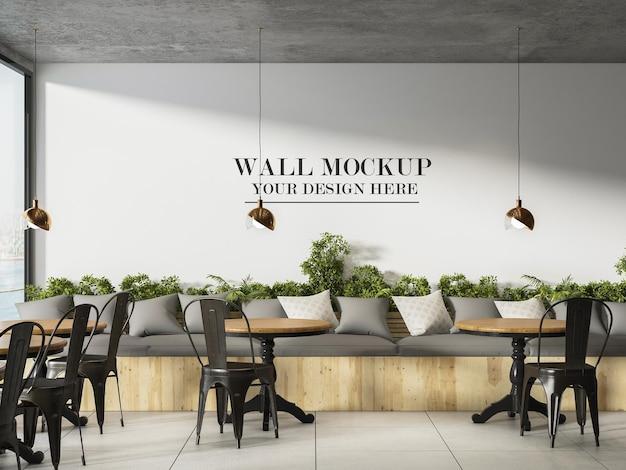 Mockup di parete interno di caffè o ristorante