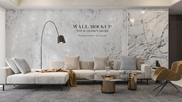 Design mockup a parete con mobili