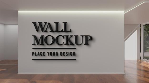 Design del mockup della parete