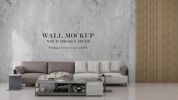 Mockup da parete in camera da letto in stile loft