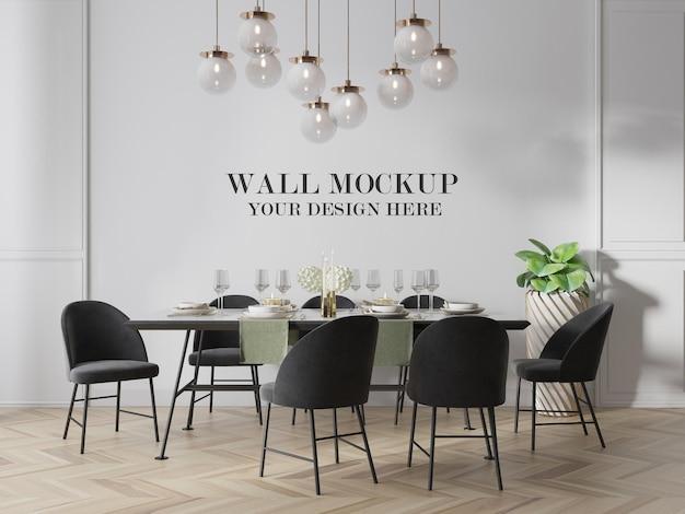 Mockup parete moderna sala da pranzo