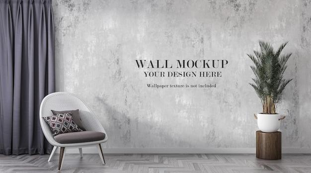Mockup da parete in interni moderni