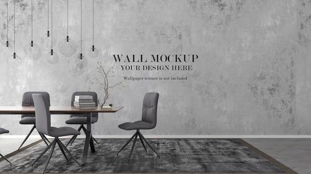 Mockup a parete per le tue idee di design nella scena di interni moderni