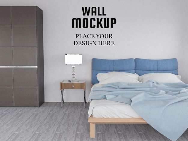Wallpaper mockup nella camera da letto moderna