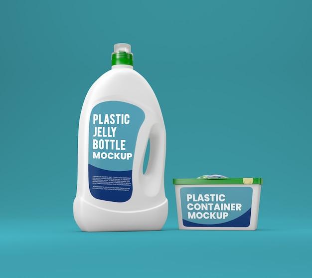 Mockup di bottiglia di detersivo liquido