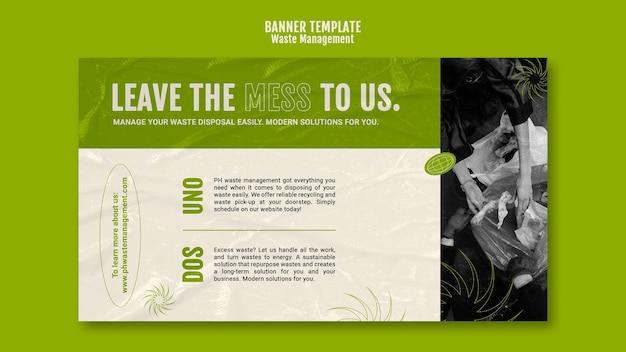 Modello di progettazione banner per la gestione dei rifiuti