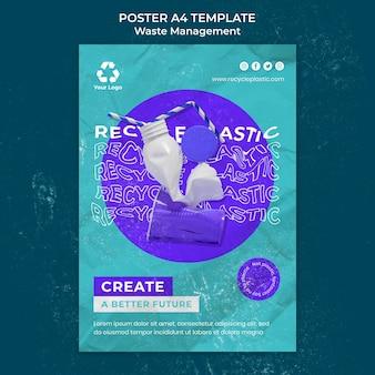 Modello di progettazione del poster per la gestione dei rifiuti Psd Premium
