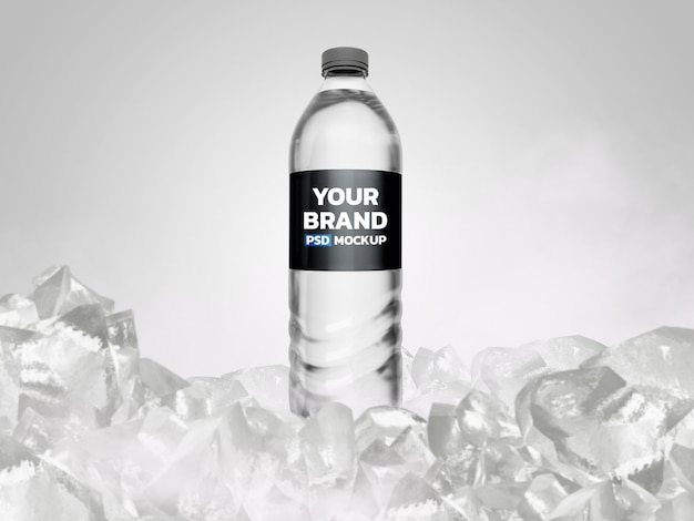 Rappresentazione del modello 3d della bottiglia di acqua