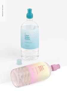 Bottiglie d'acqua con tappo sportivo mockup
