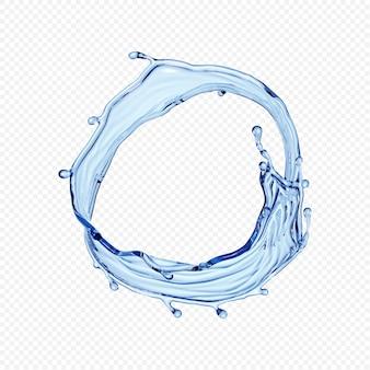 Acqua splash trasparente isolato