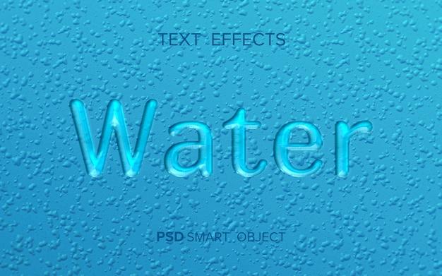 Mock-up effetto testo acqua