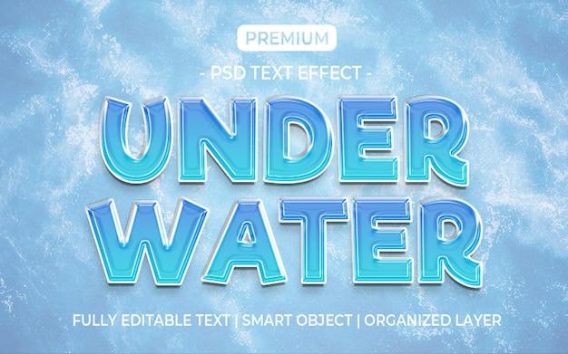 Modello di effetto testo sott'acqua Psd Premium