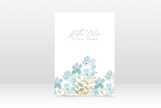 Modello di progettazione della carta di invito di nozze floreale dell'acquerello
