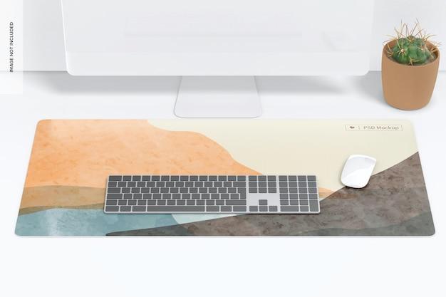 Mockup di tappetino da scrivania impermeabile, prospettiva