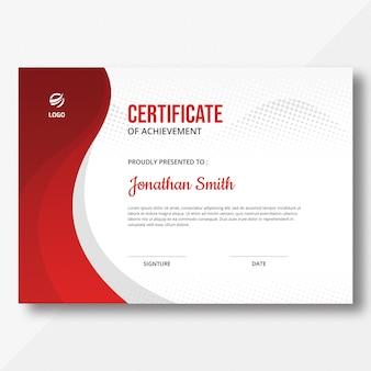 Modello di certificato waves & halftone