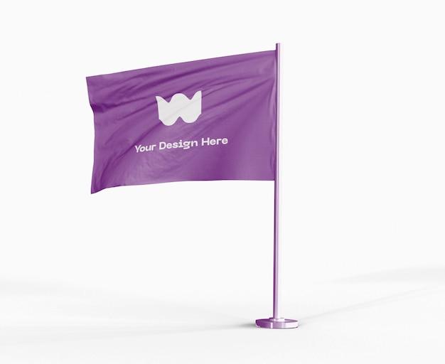 Mockup bandiera sventolante