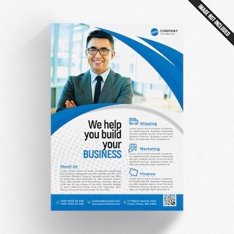 Modello di brochure aziendale ondulata