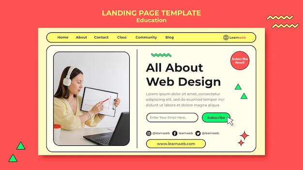 Pagina di destinazione del workshop di web design