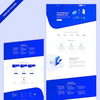 Dominio web e pagina web di hosting