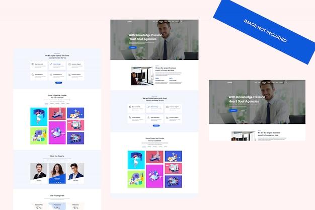 Design a tema web, modello psd. sito web di consulenza aziendale