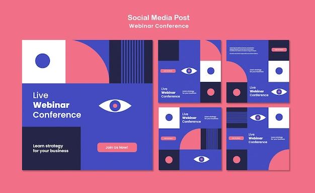 Post sui social media della conferenza webinar