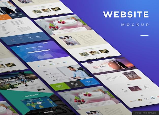 Progettazione di mockup di siti web
