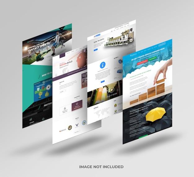 Mockup del sito web
