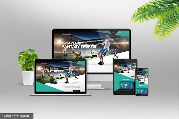 Mockup di presentazione del sito web