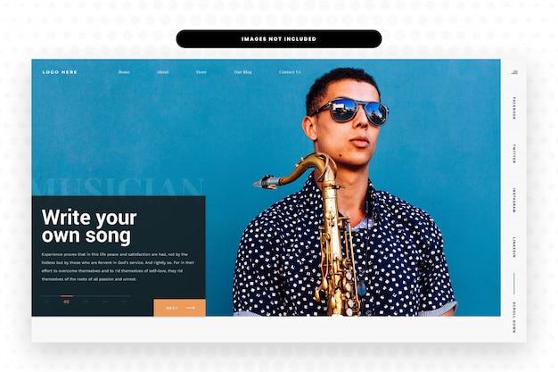 Musica modello di sito web