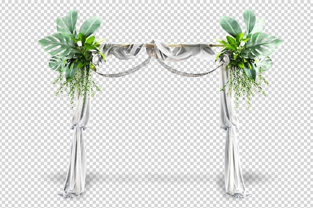 Arco di nozze nella rappresentazione 3d isolata