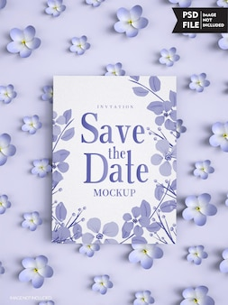 Modello di copertina dell'invito di nozze