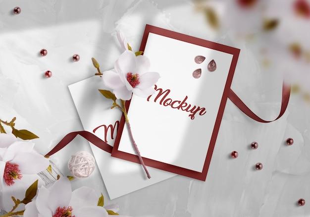 Mockup di invito di nozze