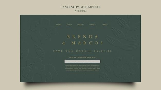 Modello di progettazione della pagina di destinazione del matrimonio