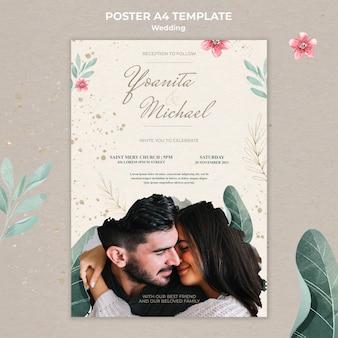 Modello di poster di matrimonio