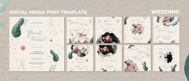 Post sui social media per matrimoni