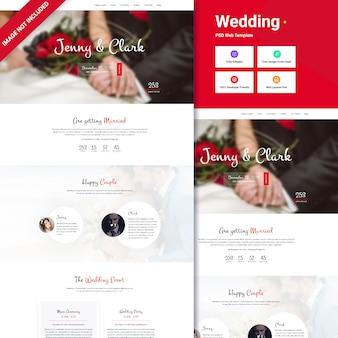 Concetto di interfaccia del sito web di nozze