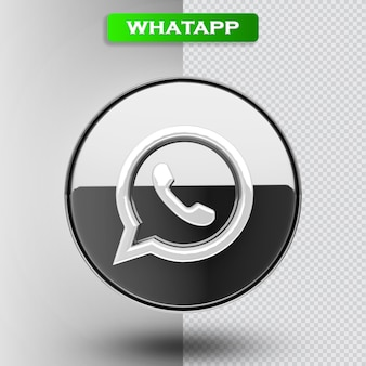 L'icona di whatapp 3d rende moderna