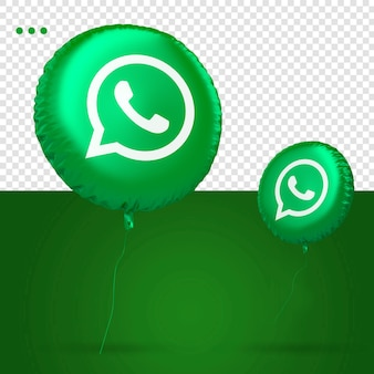 Whatsapp 3d icona palloncino social media