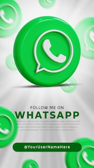 Logo lucido di whatsapp e icone dei social media story