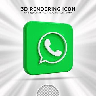 Logo lucido di whatsapp e icone dei social media
