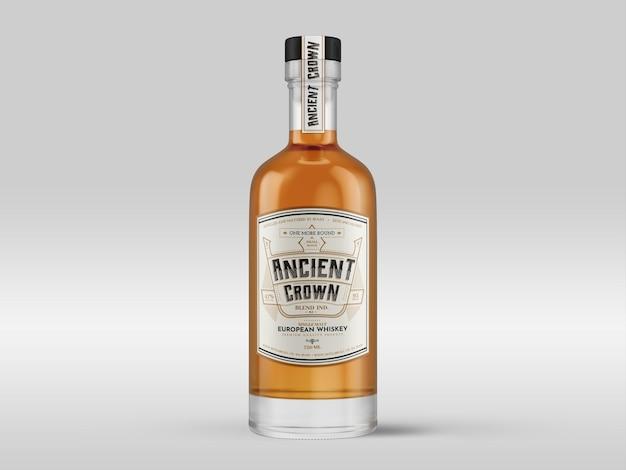 Bottiglia di whisky mockup