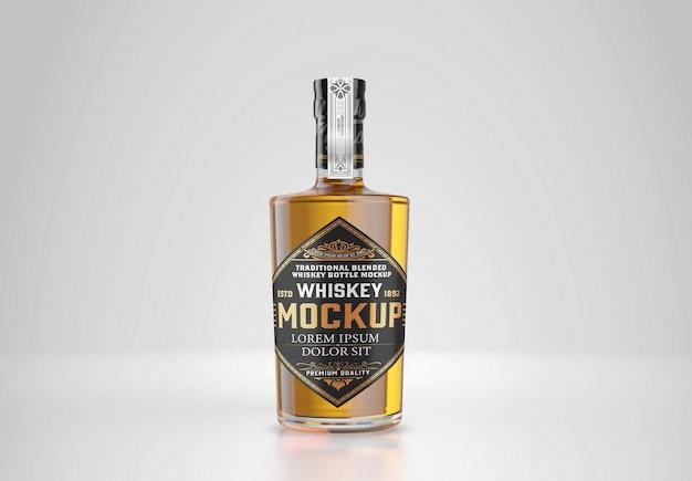 Mockup di bottiglia di whisky