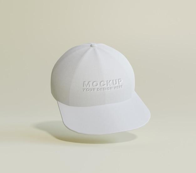 Modello di berretto da baseball bianco